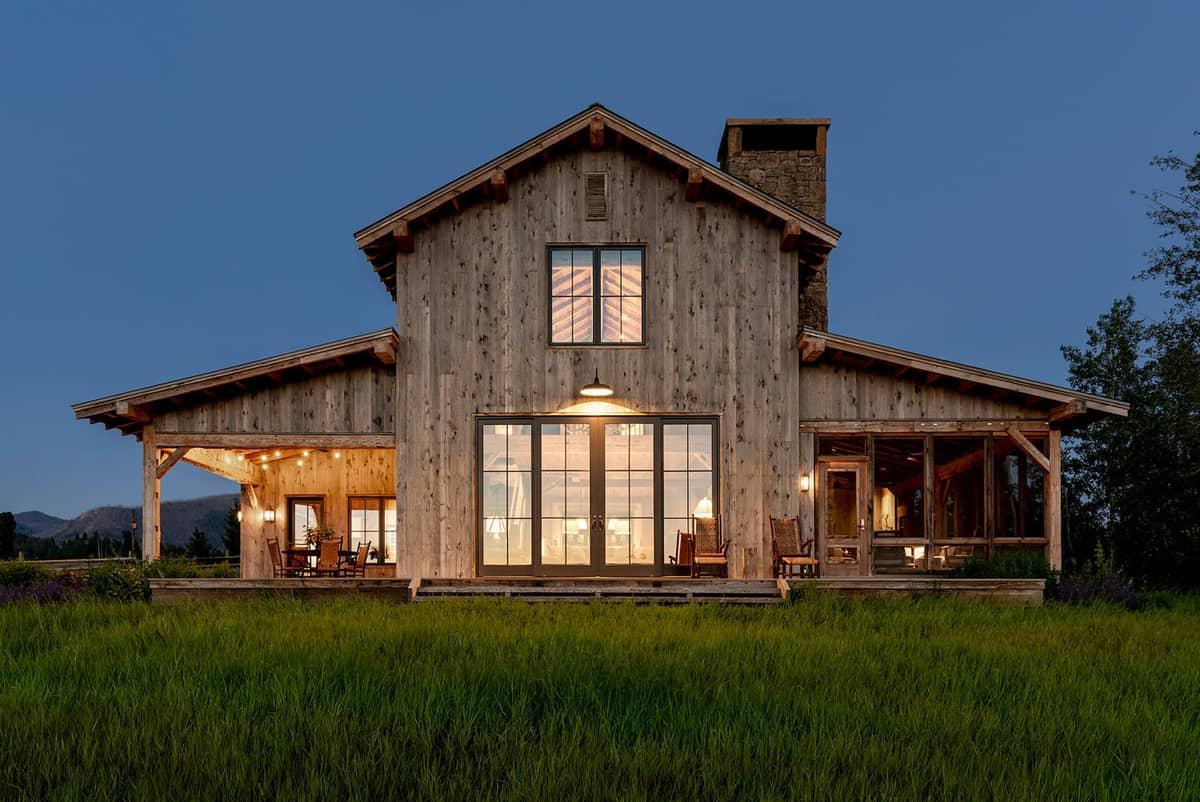 dutch-barn-ranch-house-exterior-night