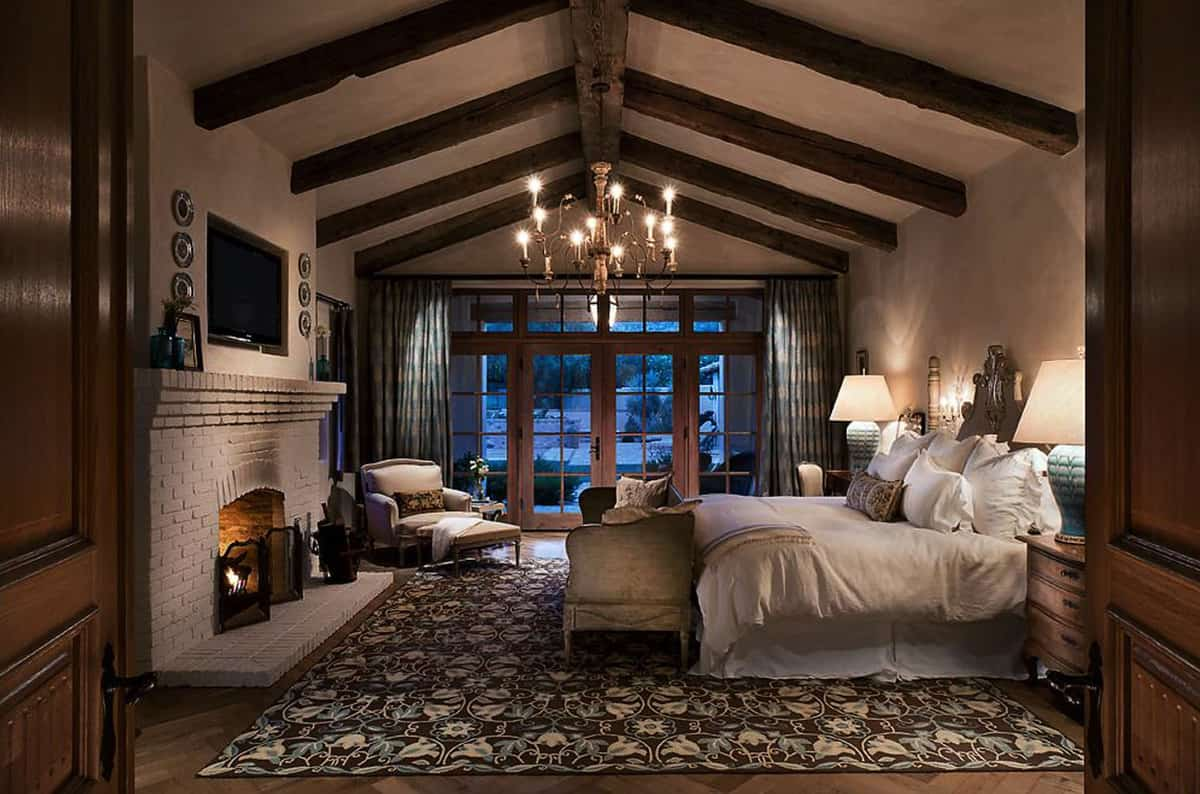 rustic-bedroom-with-a-fireplace