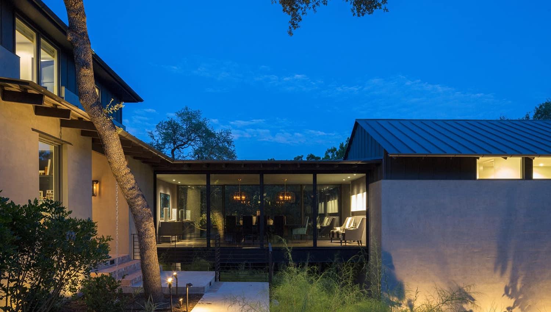 transitional-home-exterior-evening