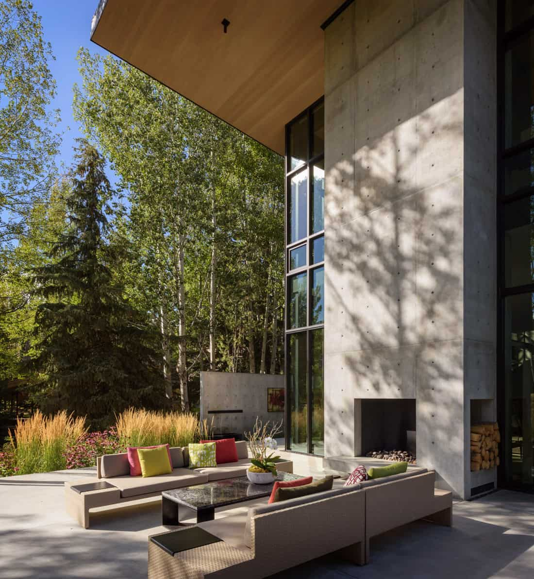mountain-contemporary-patio-with-a-fireplace