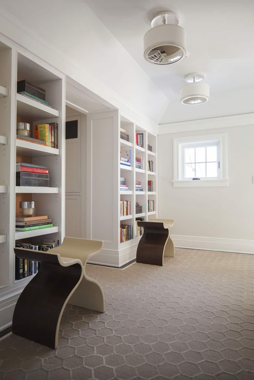 upstairs-hallway-landing-with-bookcases