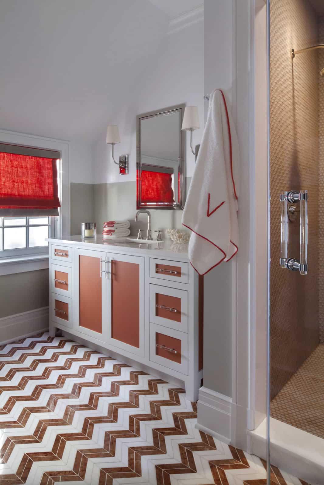 guest-bathroom-with-chevron-marble-floor