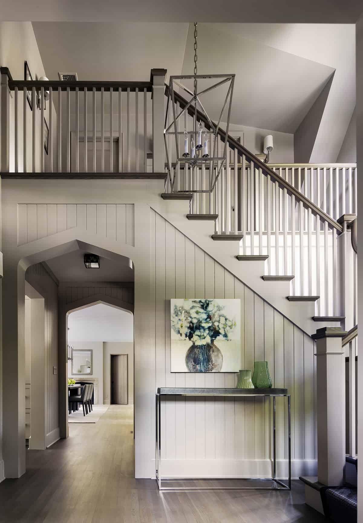 Tudor-revival-staircase-entry