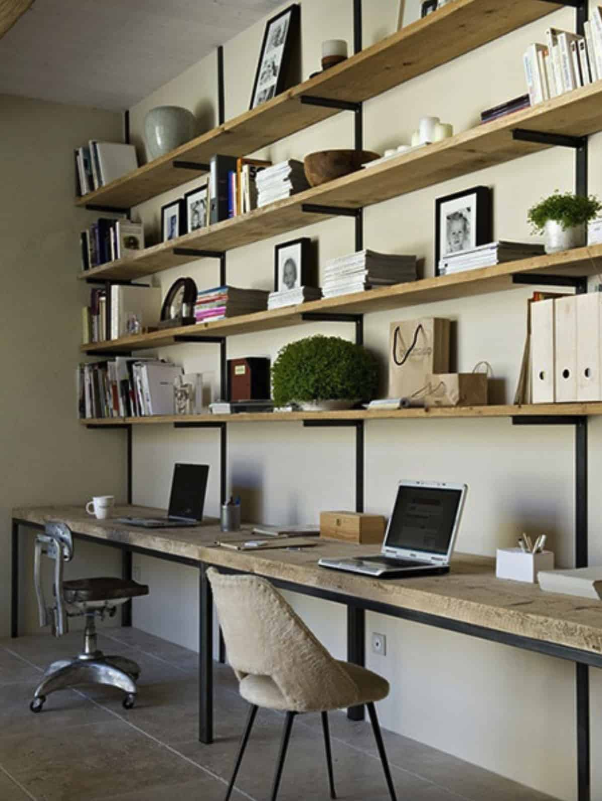 scandinavian-style-home-office-with-open-shelving