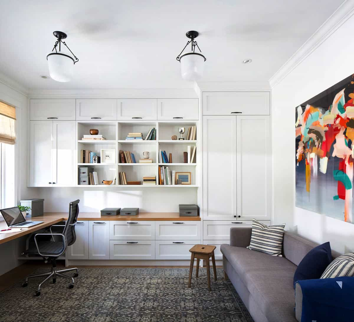 large-home-office-with-open-shelves-and-cabinets