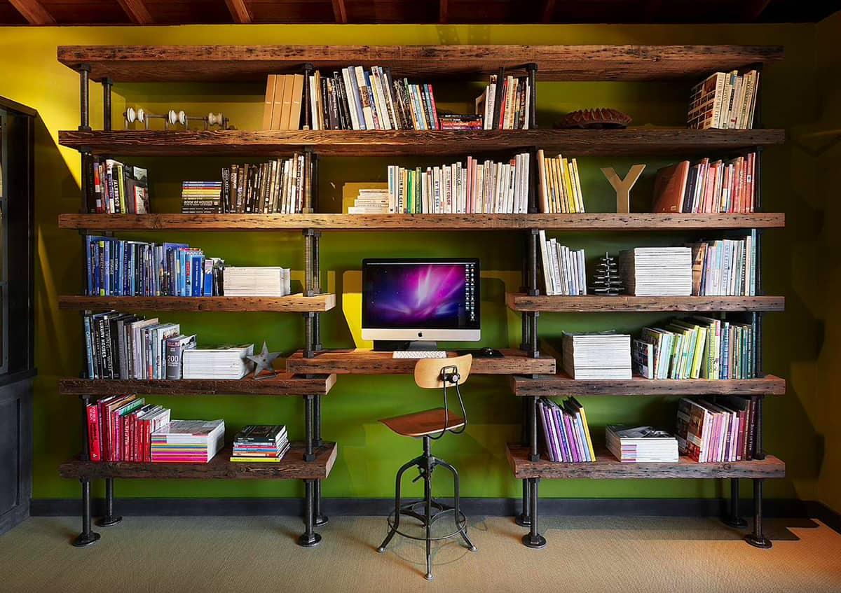 home-office-with-unique-bookshelf-design