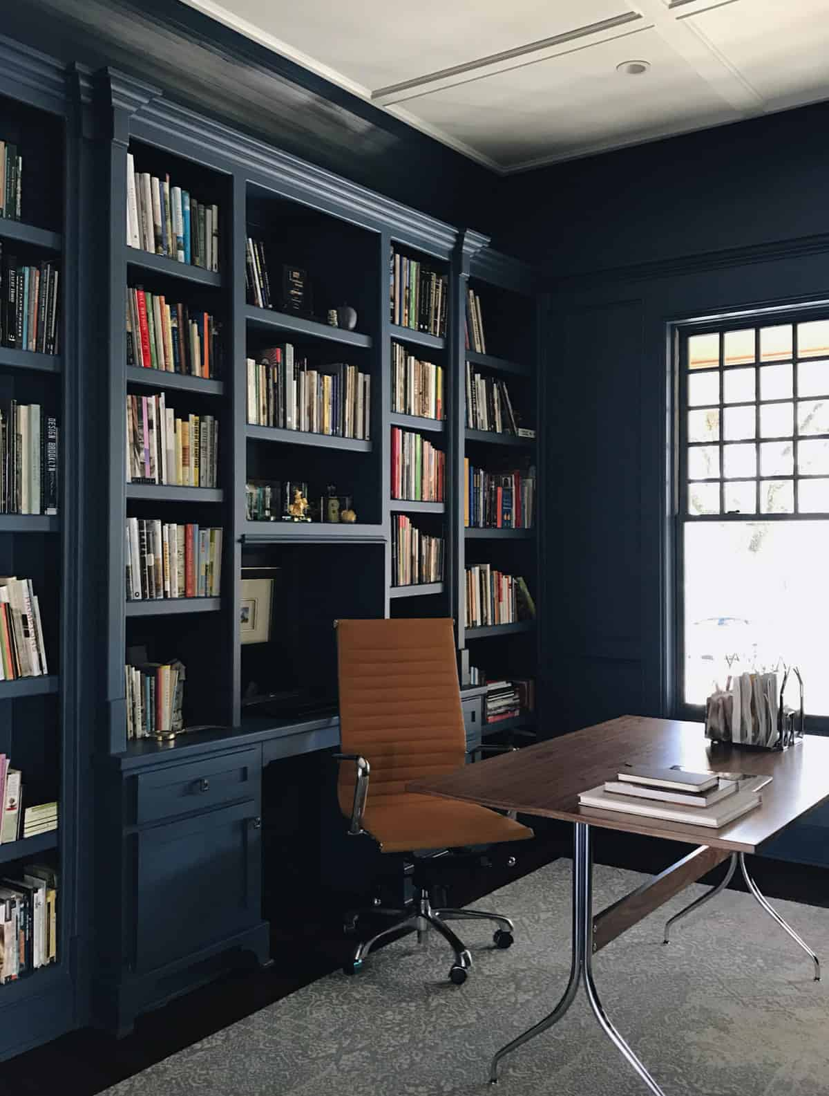 home-office-with-painted-built-in-cabinetry