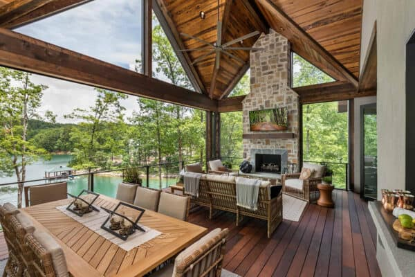featured posts image for Tour a serene lake house with rustic-modern details on Lake Keowee