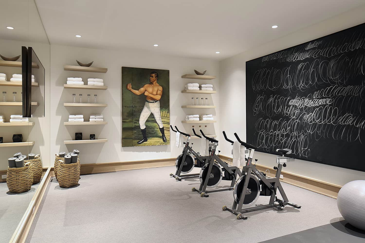 transitional-style-home-gym