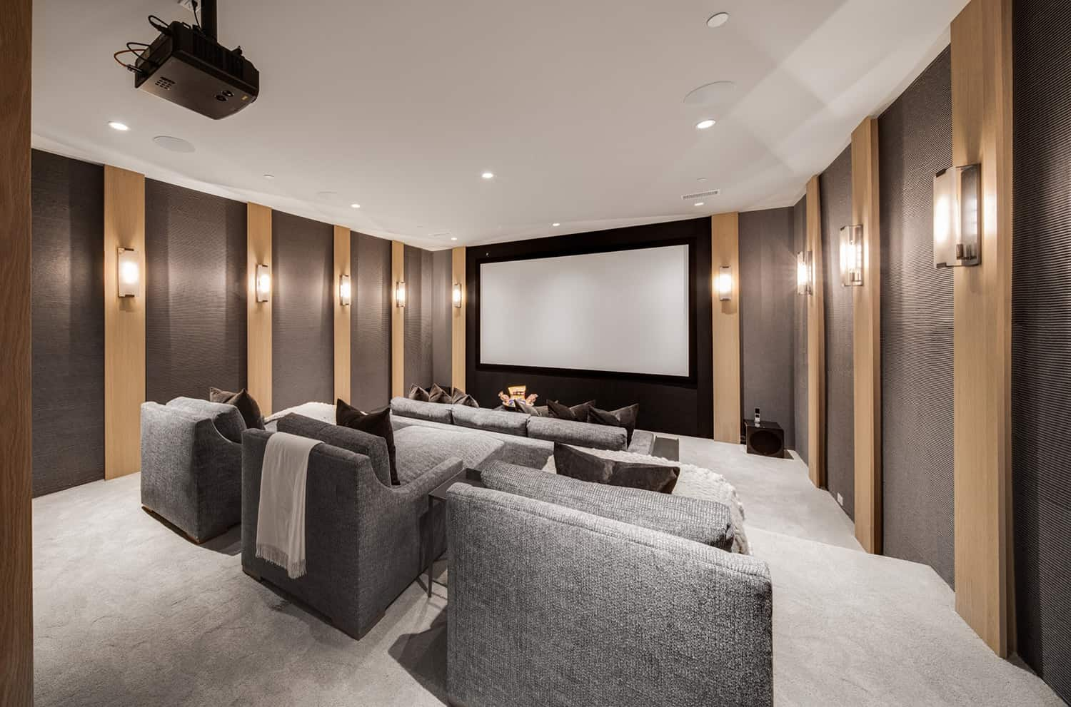 transitional-style-home-theater