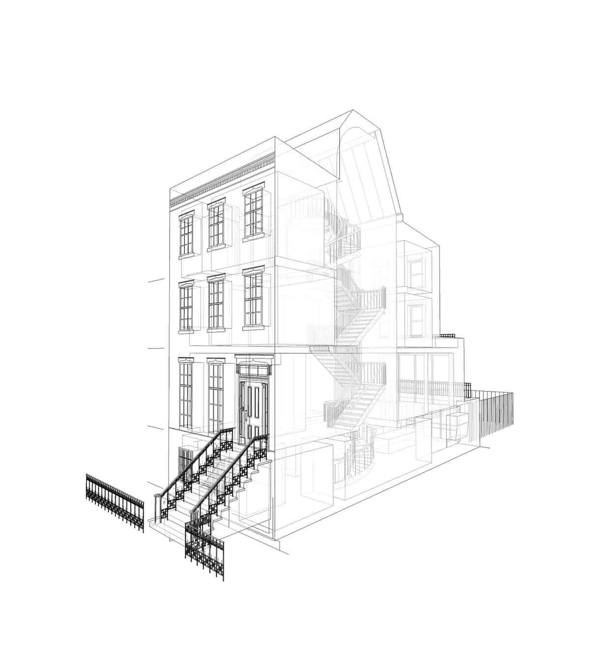 contemporary-industrial-townhouse-section-plan