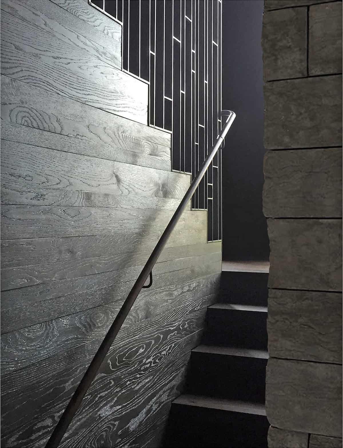 escalera moderna de mediados de siglo