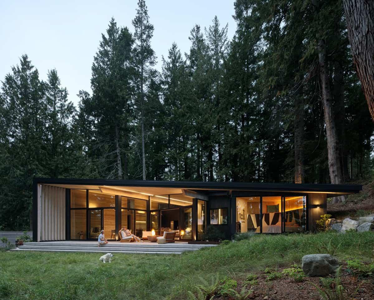 modern-rustic-cabin-exterior-dusk