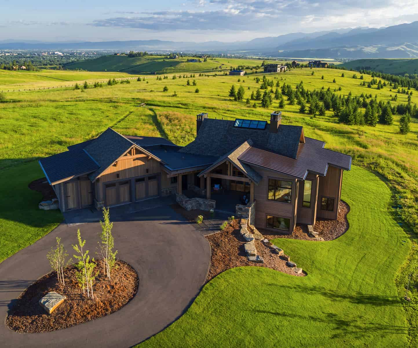 modern-rustic-home-aerial-view