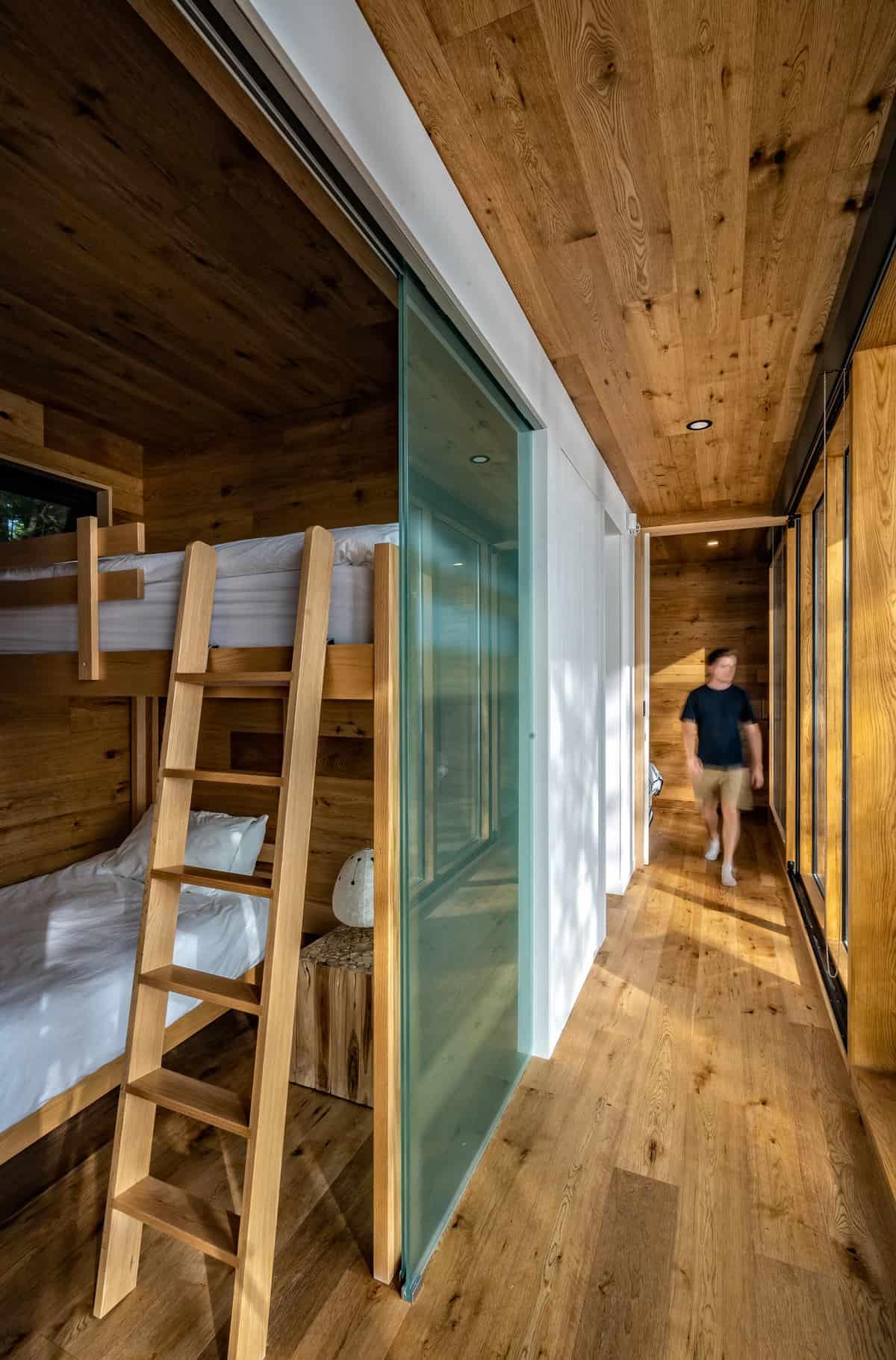 rustic-hallway-with-bunk-beds