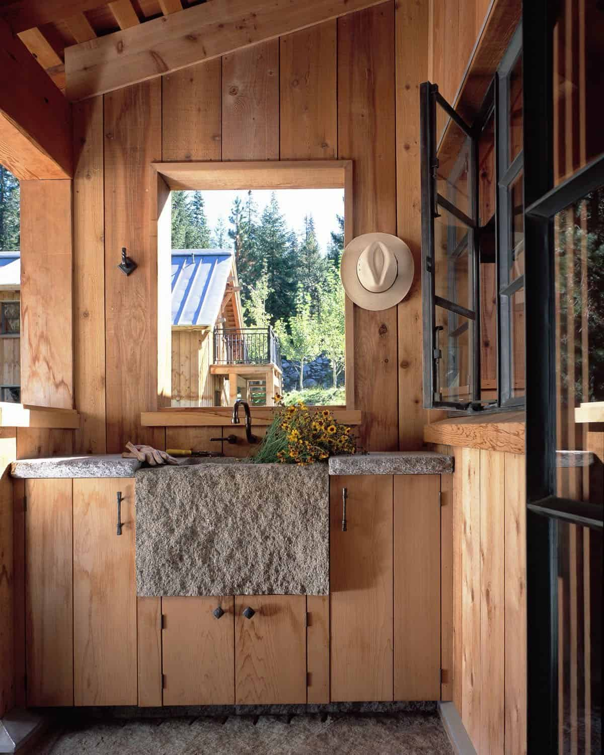 rustic-mudroom-with-a-stone-sink