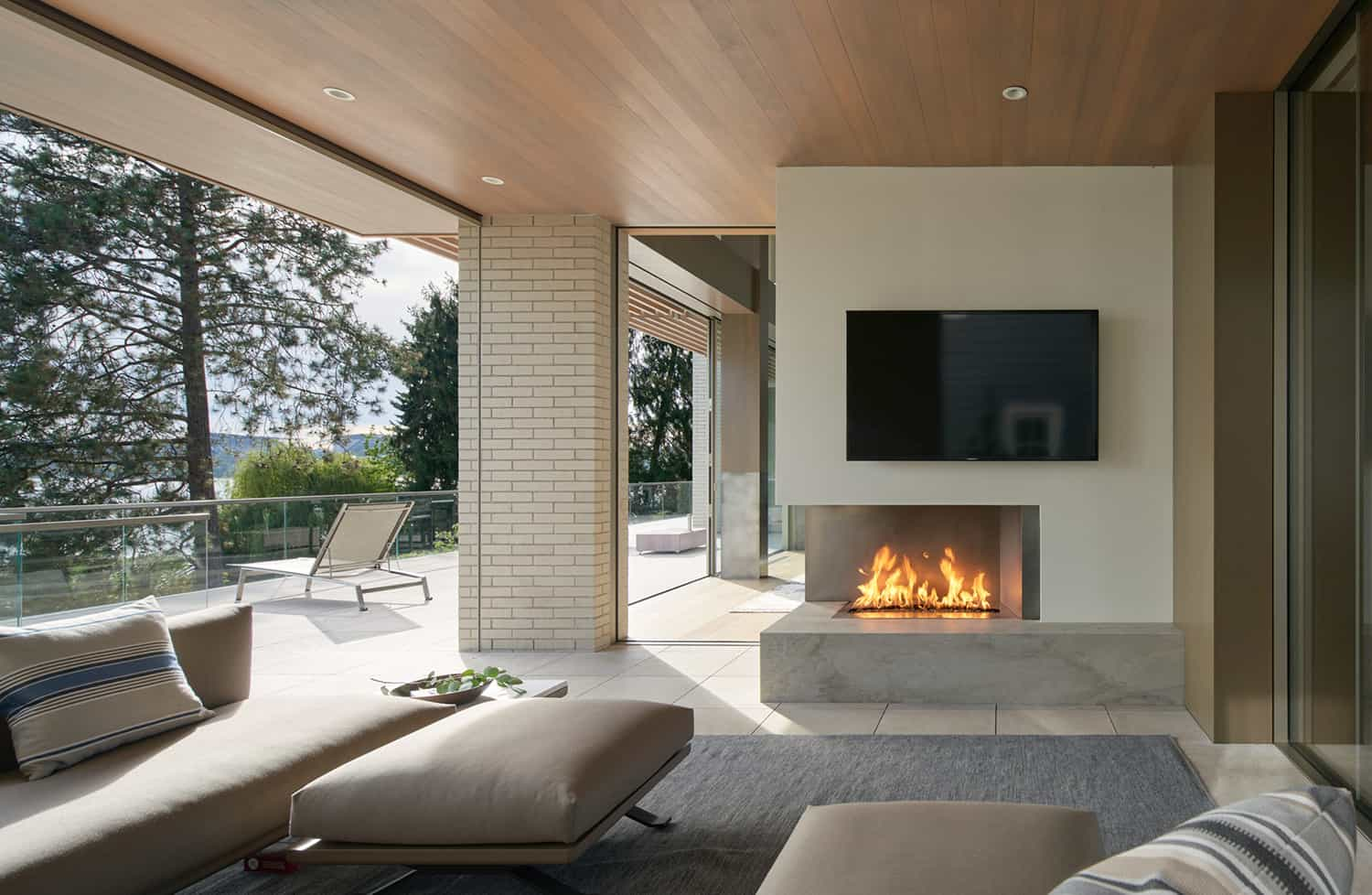 contemporary-covered-patio-with-fireplace