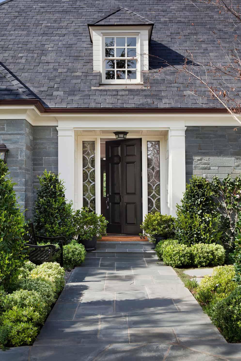 French-bluestone-manor-house-entry