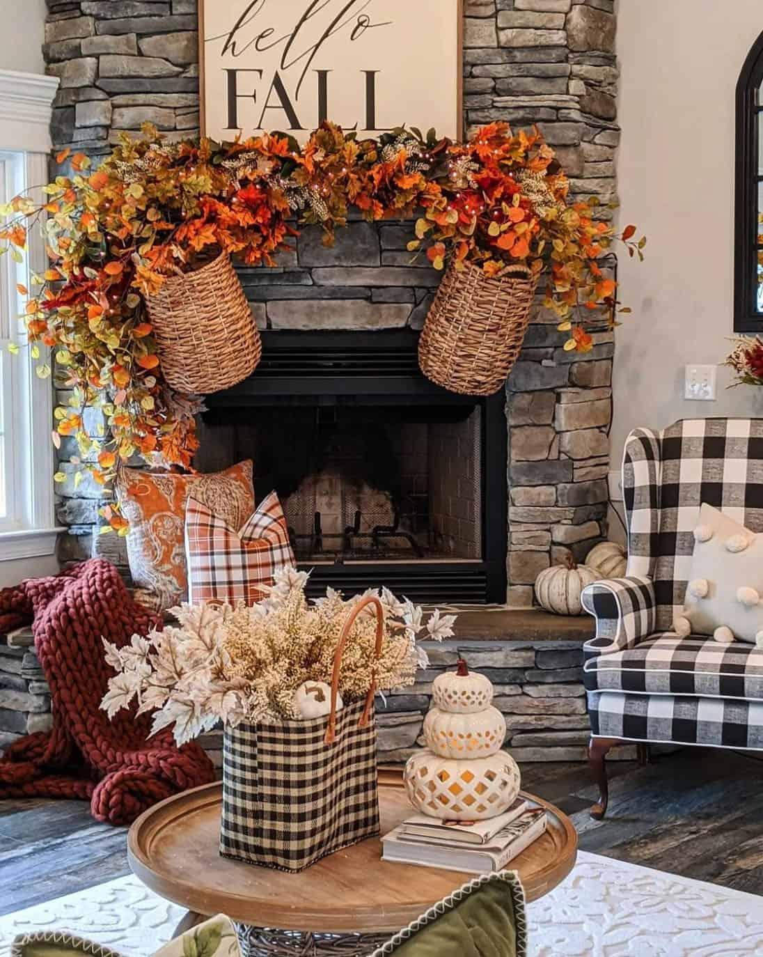 fall-decorated-fireplace-mantel