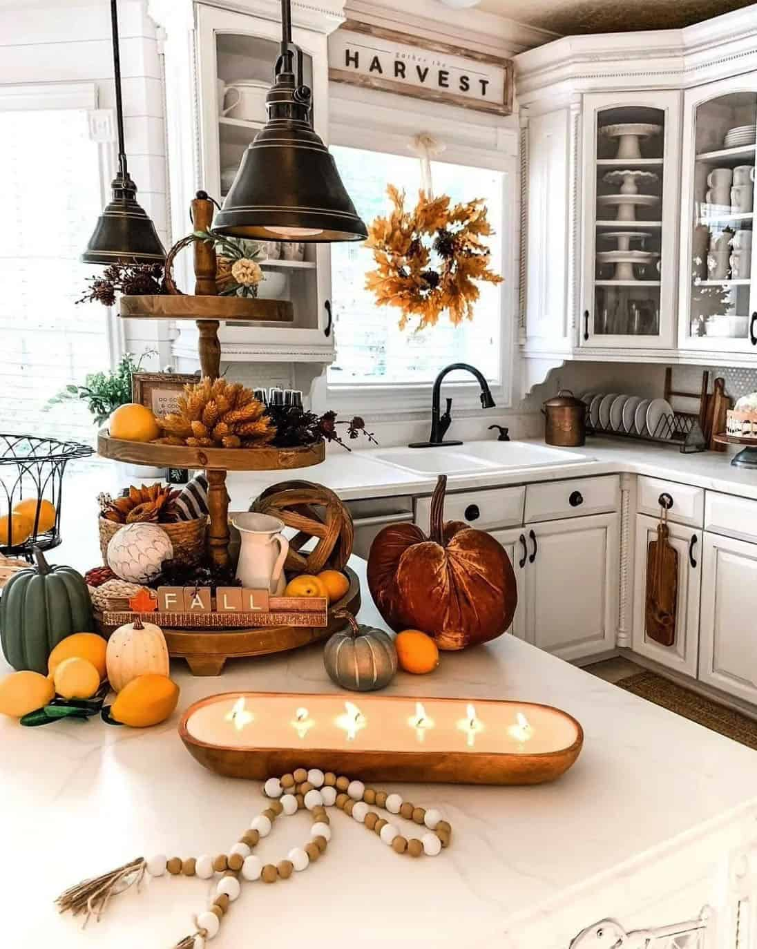 fall-decorated-kitchen-with-pumpkins