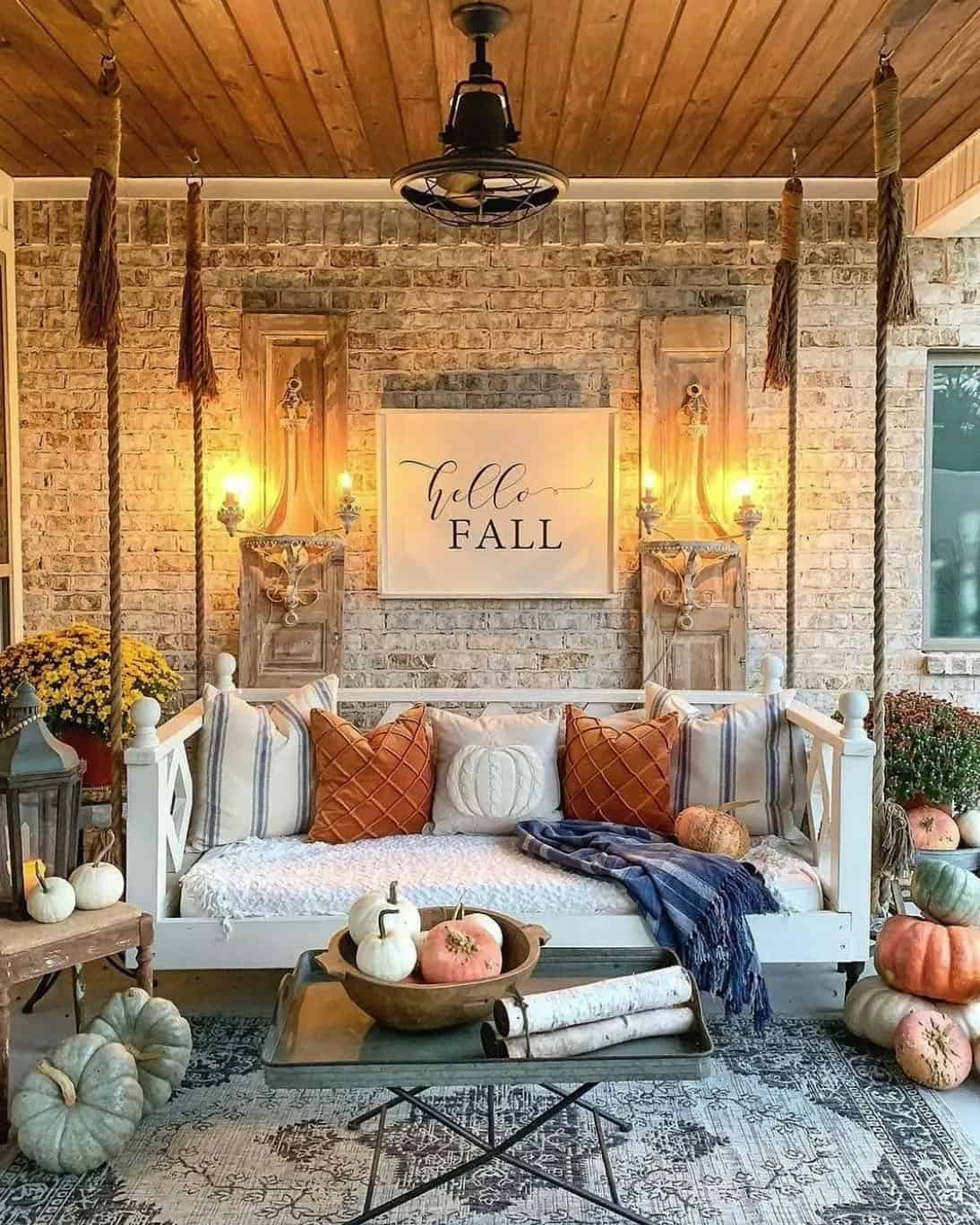 fall-decorated-porch-swing