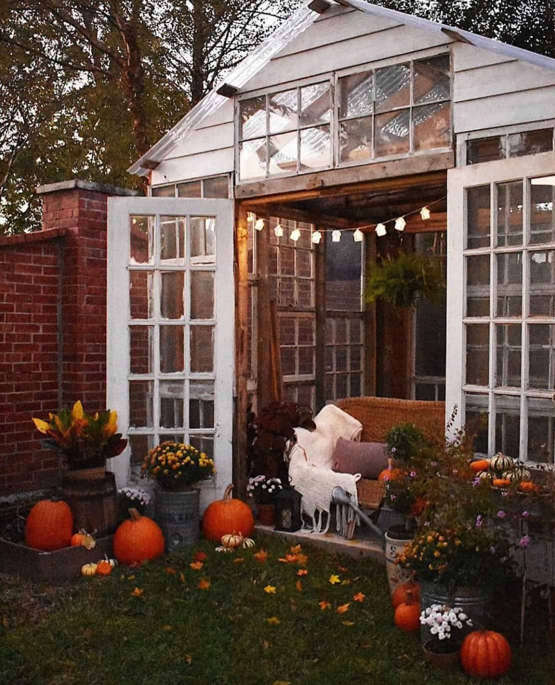 fall-decorated-greenhouse