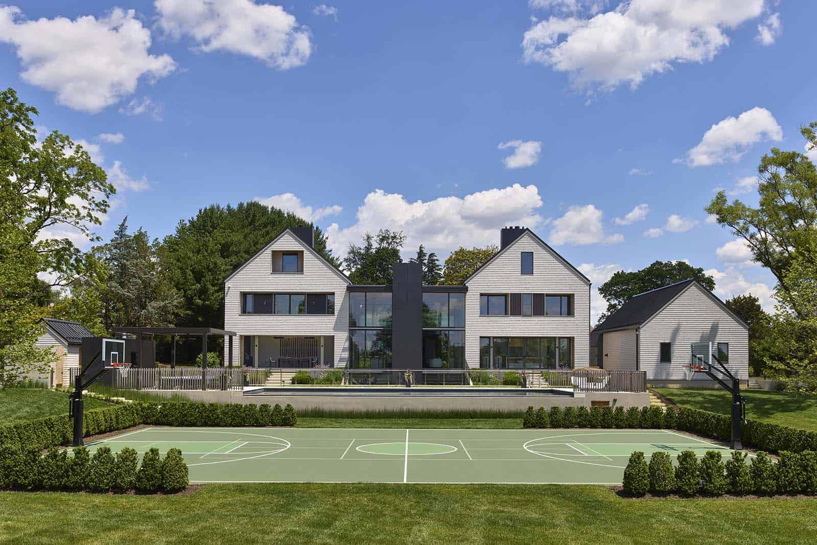 modern-home-exterior-with-a-tennis-court