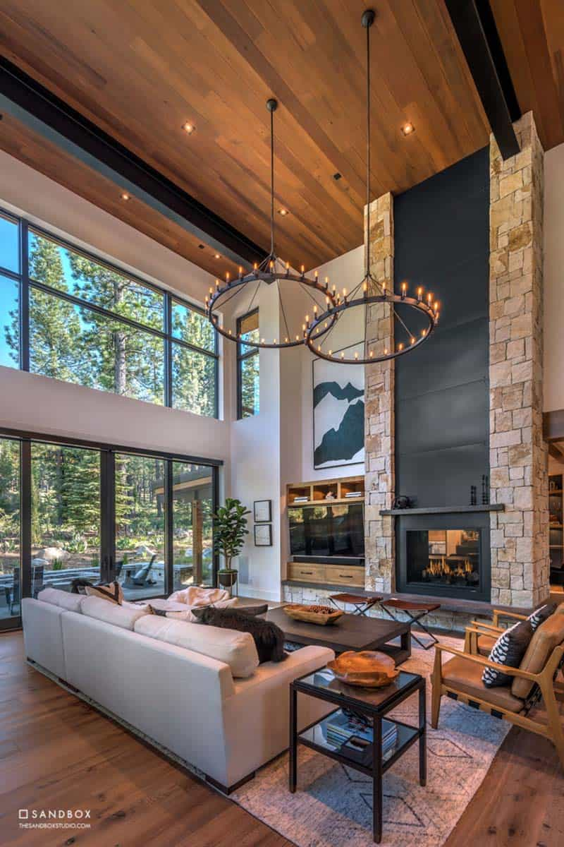 mountain-contemporary-home-great-room-custom-steel-stone-fireplace