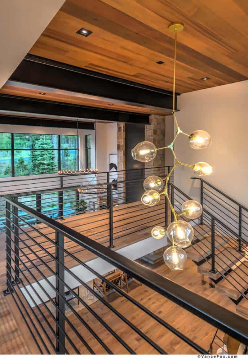 mountain-contemporary-home-floating-stairs-chandelier
