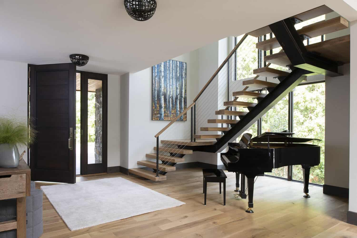 rustic-contemporary-entry-staircase