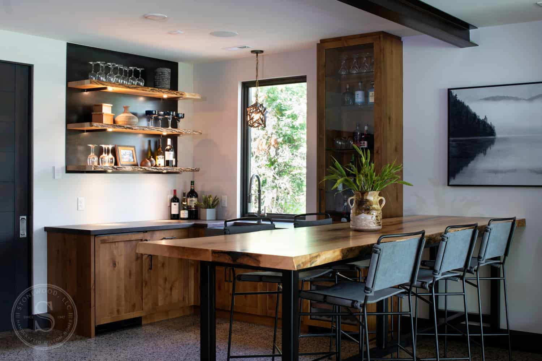 rustic-contemporary-basement-home-bar