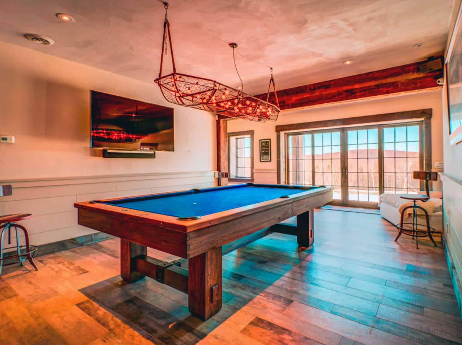 rustic-pool-room-basement