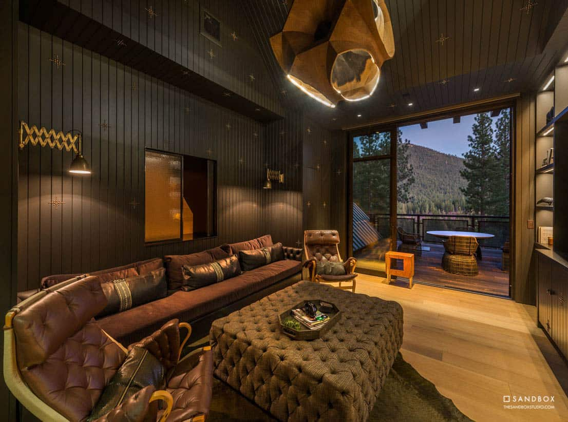 transitional-mountain-home-theater