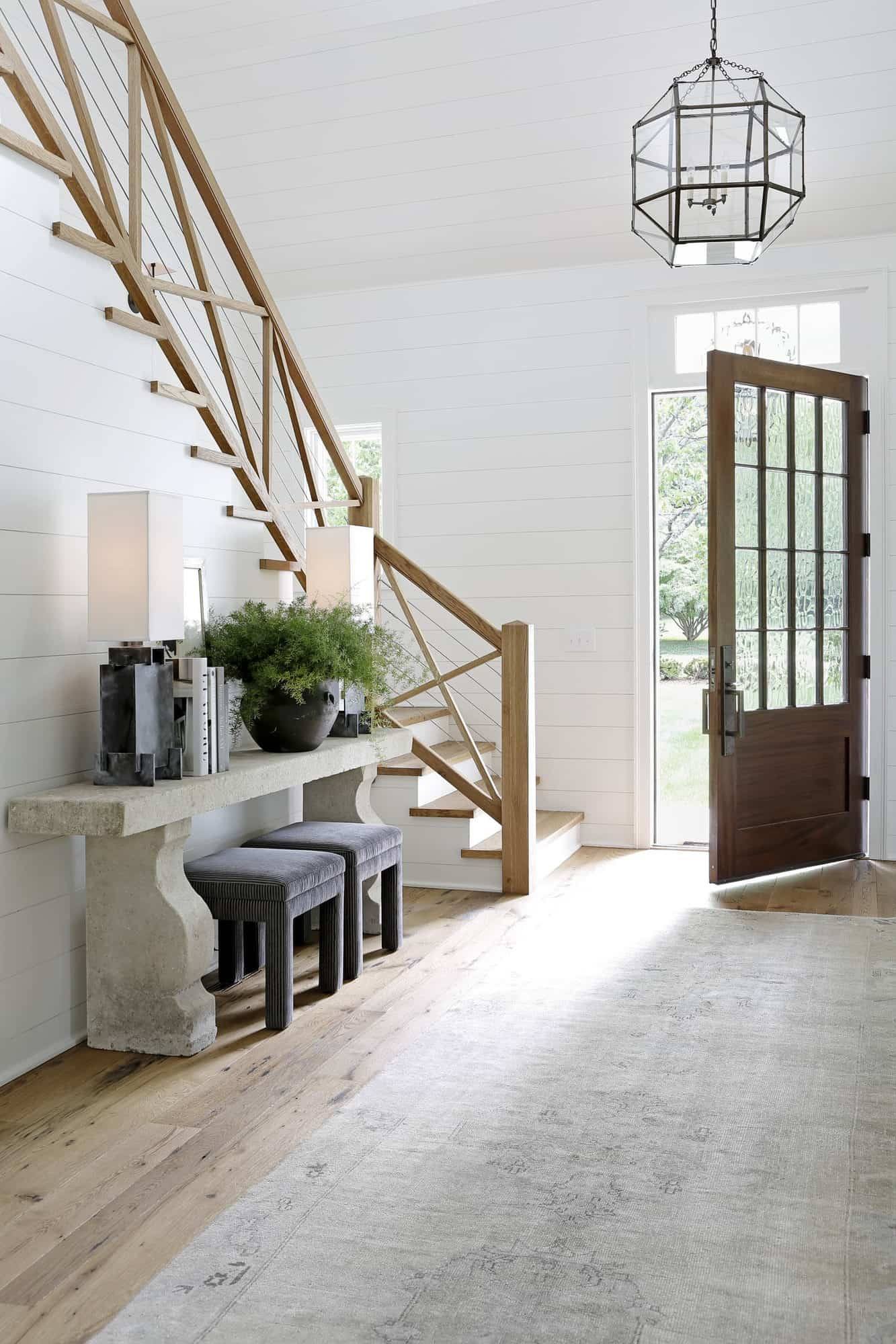 transitional-style-home-entry