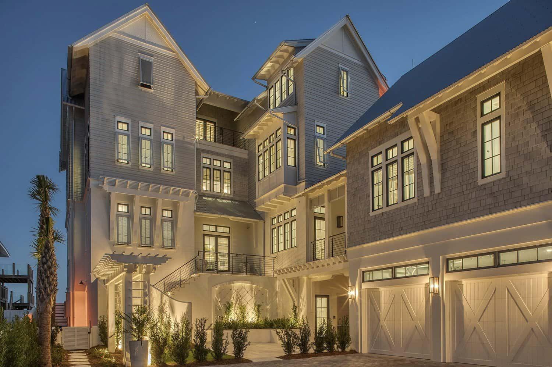 contemporary-beach-house-exterior-dusk