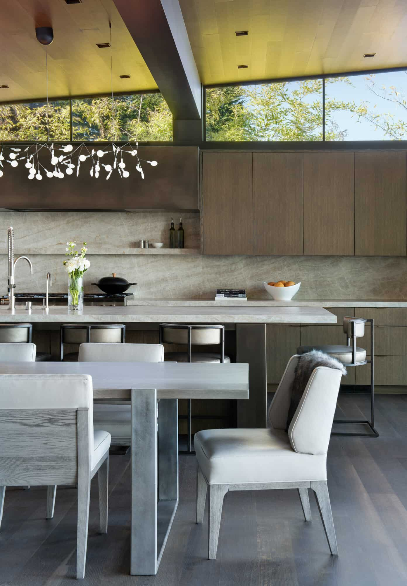 contemporary-kitchen-with-casual-dining-room