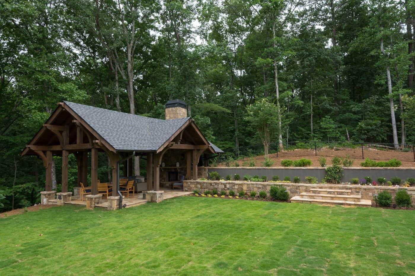 contemporary-ranch-style-backyard-pavilion