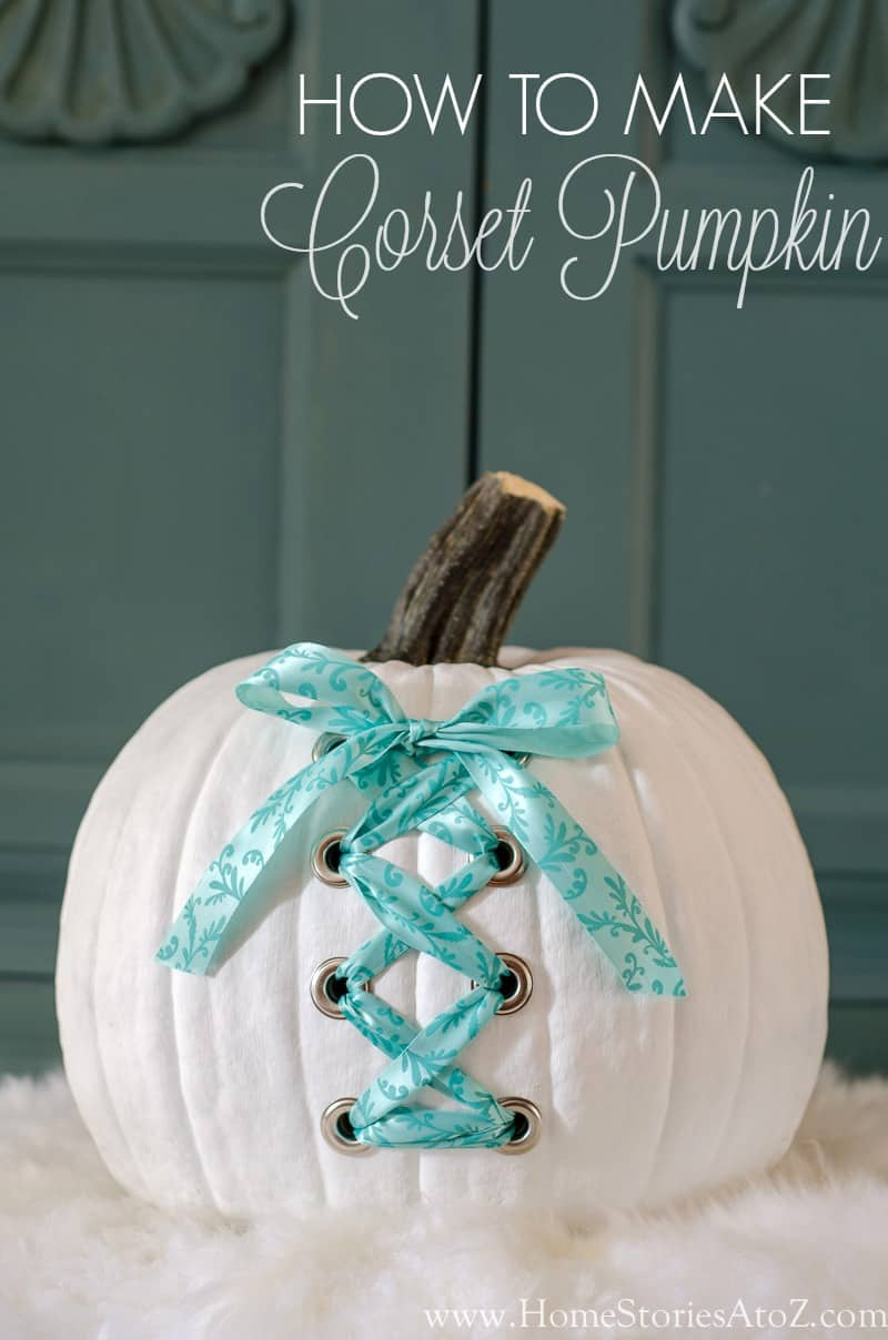 diy-white-corset-pumpkin
