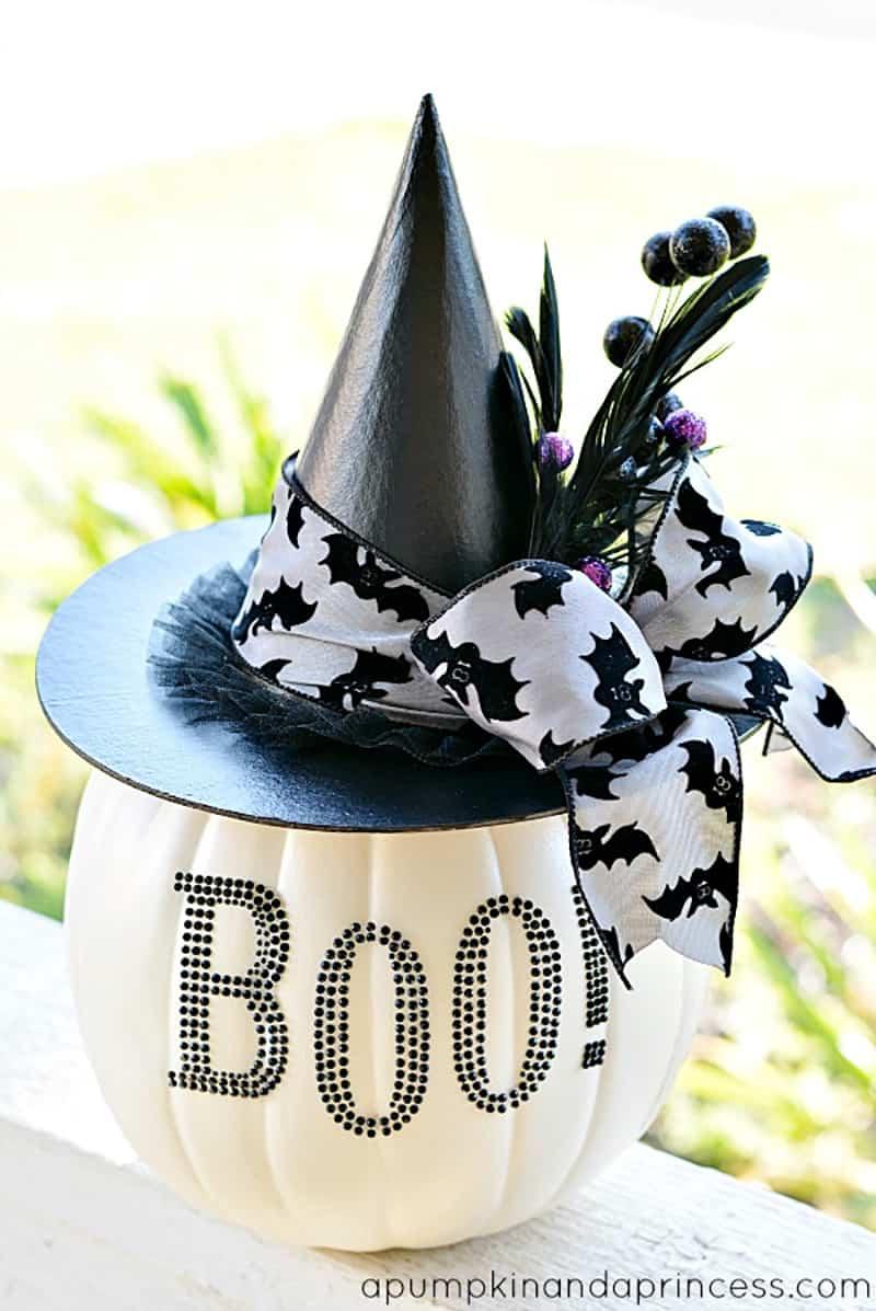 black-and-white-glam-pumpkin