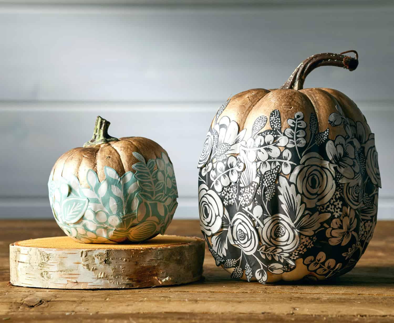 decoupage-no-carve-pumpkin-idea