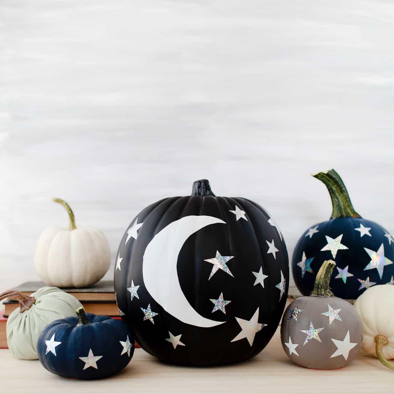 diy-moon-and-stars-pumpkin
