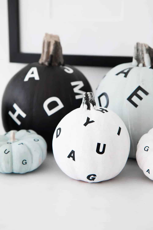 die-flying-letter-painted-pumpkins