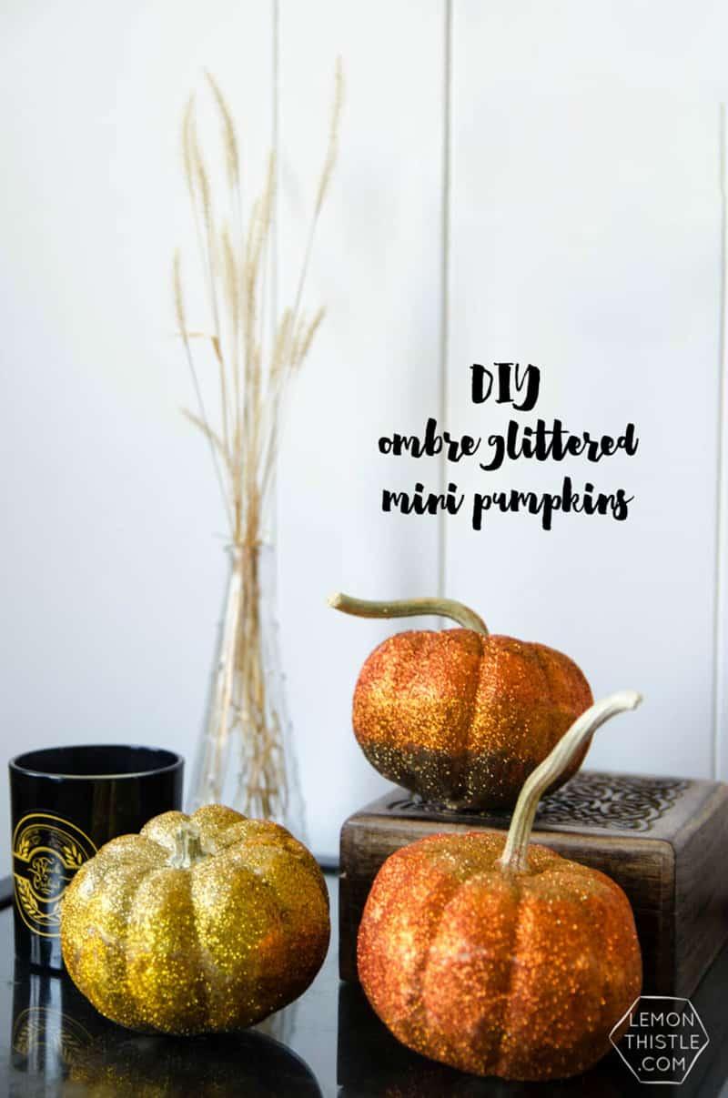 diy-ombre-glitter-mini-pumpkins
