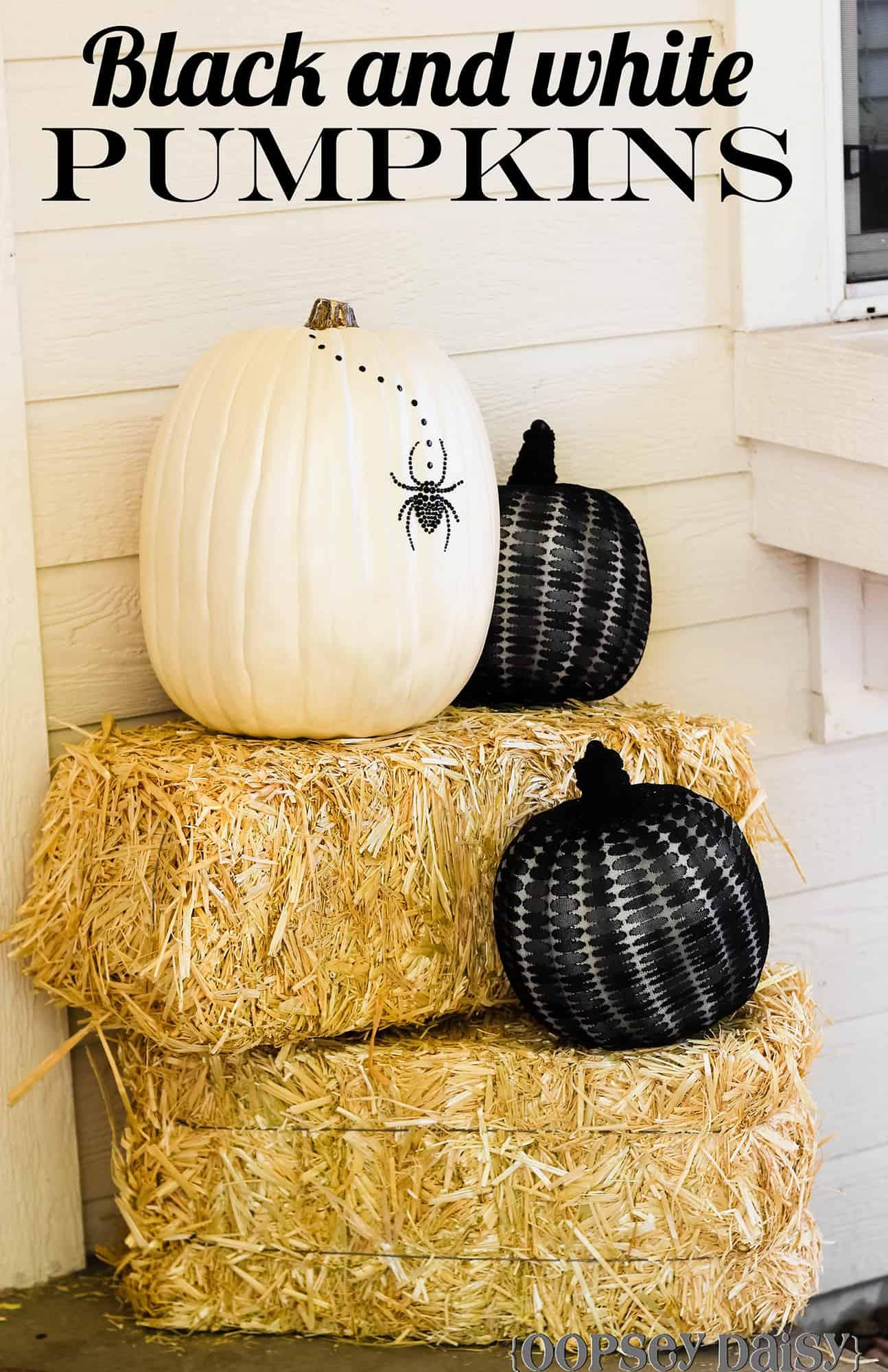 diy-black-and-white-pumpkins