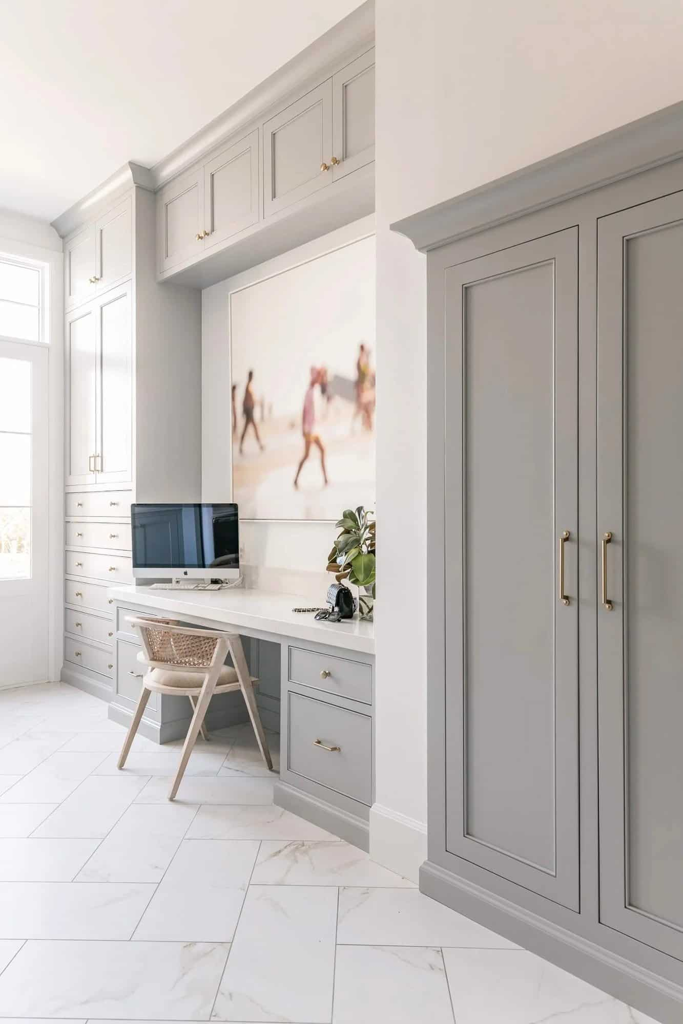French-modern-style-home-office