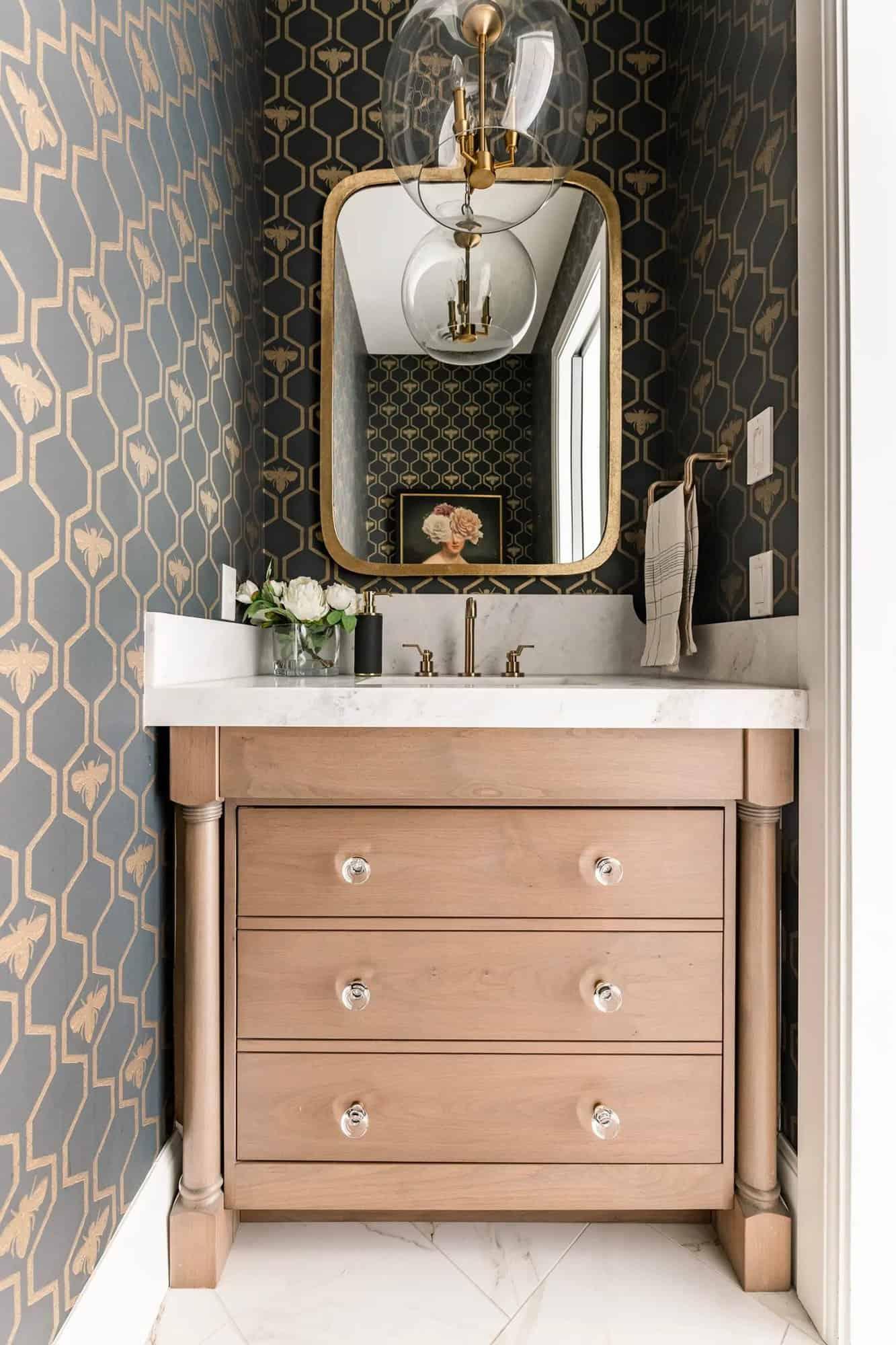 French-modern-style-powder-room