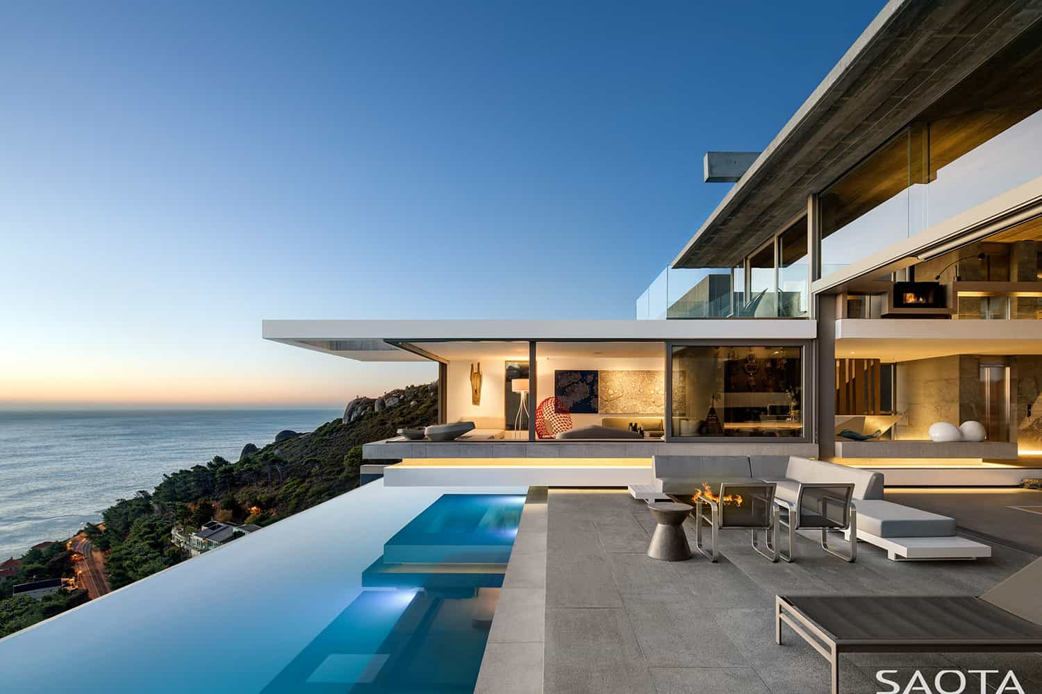 Beyond spectacular beach house perched on a hillside in Cape Town