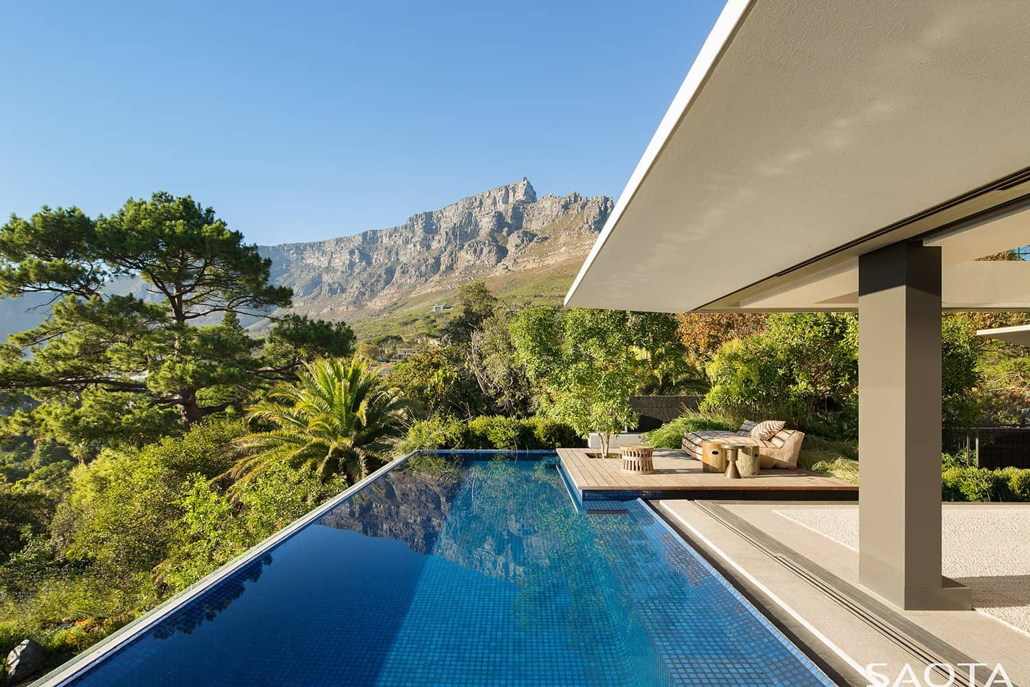 A serene indoor outdoor oasis at the foot of Table Mountain, South Africa