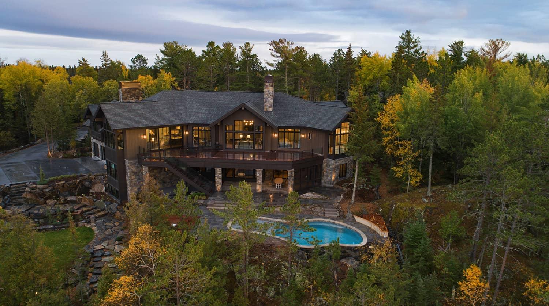 Tour this absolutely gorgeous mountain style lake house in Minnesota