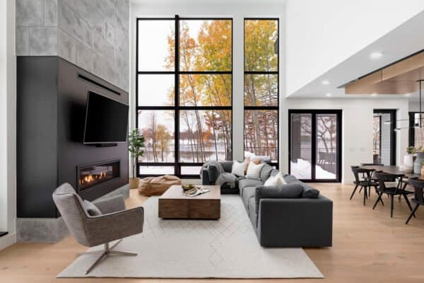 featured posts image for Step inside this modern Minnesota lake house with breathtaking views